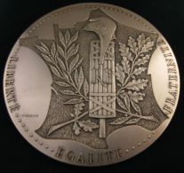 AG01659 REPUBLIQUE FRANCAISE - LIBERTE - EGALITE - FRATERNITE  (Ag 1er Titre 362 Gr) Monuments Au Revers Ecrin D´origine - Autres