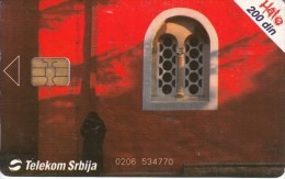 SERBIA - Zica Monastery, Telecom Srbija Telecard 200 Din, 11/03, Used - Joegoslavië