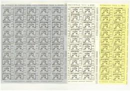 CITTA´ DEL VATICANO   - ANNO 1958 - SEDE VACANTE  - 3 VALORI FOGLI DA  50  - NUOVI ** MNH - Nuovi