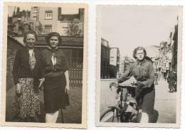 Foto/Photo. Scoutisme. Jeune Femme Scout. 12 Avril 1942. Lot De 2 Photos. - Personnes Anonymes