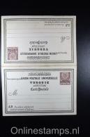 Postes Ottomanes: Carte Postale Avec Réponse Payée 1880 Isfl. AN 10 - 1858-1921 Empire Ottoman