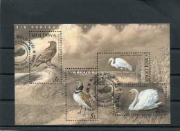 MOLDAVIA 2003 Sheet With Birds CTO - Aigles & Rapaces Diurnes