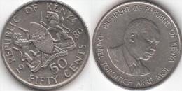 KENYA 50 Cents 1989 KM#19 - Used - Kenya