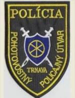 Police Slovaque - Slovakia, écussons Tissu-Patches, Service De Police D'urgence Trnava, SWAT - RIOT Unit - Police
