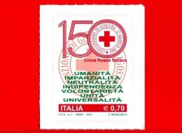 Nuovo - ITALIA - 2014 - Croce Rossa Italiana, Nel 150° Anniversario Dell´istituzione  - 0.70 Logo - 6. 1946-.. Repubblica