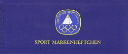 BRD Privates Markenheftchen DSH-MH 1a Sport Mit 6x 1009 Postfrisch**. Handball - [7] République Fédérale