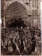 PHOTO FORMAT 170x125 - ANNIVERSAIRE DE LA BATAILLE DE LA MARNE A MEAUX - LES ANCIENS COMBATTANTS ENTRENT DANS L'EGLISE - Guerre, Militaire