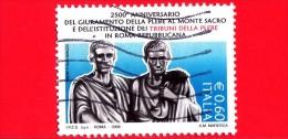 ITALIA - 2008 - Usato - Tribuno Della Plebe - 0,60 € • I Gracchi, Scultura Di E.Guillaume - 6. 1946-.. Repubblica