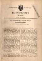 Original Patent - Jacob Schweizer In Soleure / Solothurn , 1884 , Automatische Graviermaschine , Gravur , Druckerei !! - Machines