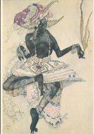 Spadem Postcard, Leon Bakst, Danseuse Noire, Projet De Costume Pour Le Dieu Bleu - Paintings