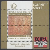 Indonesia - 1981 Wipa'81 Block MNH__(TH-388) - Indonesia