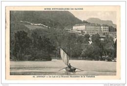 F145 74 ANNECY Le Lac Et Le Nouveau Monastère De La Visitation 1925 Cachet Timbre - Annecy