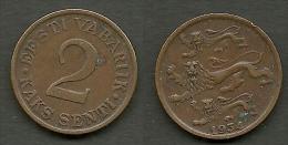 Estland Estonia Estonie 2 Senti Coin 1934 - Estonia