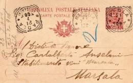 1906   CARTOLINA CON ANNULLO   PAOLA COSENZA - Interi Postali
