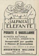 Argenteria WELLNER Posate E Vasellame - Pubblicità 1927 - Advertising - Advertising