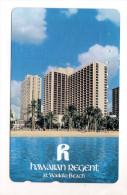 HAWAII HOTEL HAWAIIAN REGENT WAIKIKI BEACH Télécarte Japonaise - Hawaï