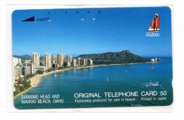 HAWAII WAIKIKI BEACH  Télécarte Japonaise - Hawaii