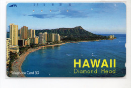 HAWAII DIAMOND HEAD  Télécarte Japonaise - Hawaï