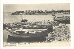 Cp, 83, Toulon, Plage Du Mourillon, Voyagée 1904 - Toulon