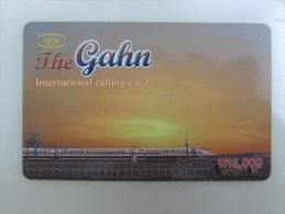 Korean Prepaid Phonecard,the Gahn, Train,used - Korea (Zuid)