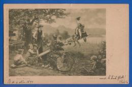 Malerei; Mizi Mizzi Wunsch; Grüss Gott; Künstlerpostkarte Nr 489; 1899 - Künstlerkarten