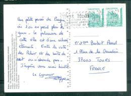 Affranchissement En 1998 Au Dos D'une Carte Postale Pour La France -  Au5806 - Tchéquie