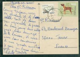 Affranchissement En 1987 Au Dos D'une Carte Postale Pour La France -  Au5808 - 1910-... République
