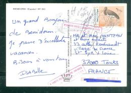 Affranchissement En 1997 Au Dos D'une Carte Postale Pour La France ( Retour à L'envoyeur ) -  Au5814 - 1991-00 Lettres