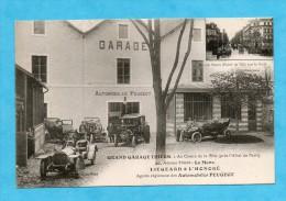 Grand Garage Thiers. Au Centre De La Ville (près L´Hôtel De Paris) Le Mans. Liégeard & L´Honoré Agents R. Auto. Peugeot. - Le Mans
