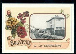 13   LA  COURONNE   ....   ...... Gare Souvenir  Creation Moderne Serie  Numerotee 1 A 10 ... Num 2/10 - Autres Communes
