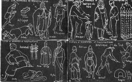 16 CPA.J.M Valton.Tableau Noir.Types D'Hommes Et Particularités De Construction. - Illustrators & Photographers