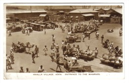 MAALLA VILLAGE ADEN ENTRANCE TO THE WHARVES VIAGGIATA 1954 FRANCOBOLLO ASPORTATO COD.C 1725 - Sudan