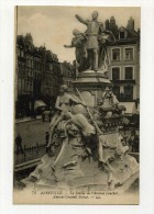 CP , 80 , ABBEVILLE , La Statue De L'Amiral Courbet - Abbeville