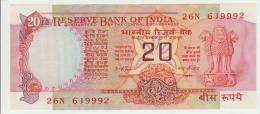 India 20 Rupees ND Pick 82d AUNC - India