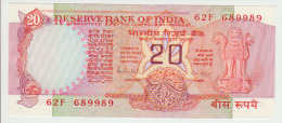 India 20 Rupees ND Pick 82h UNC - India