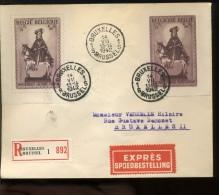 592A Et B Sur Enveloppe EXPRES  Cote 60 € - Belgique