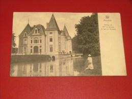 MOUSTIER  -  FRASNES LEZ ANVAING  -   Château De Mme La Baronne Du Sart De Bouland -  1927   -  (2 Scans) - Frasnes-lez-Anvaing