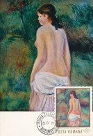 D17319 CARTE MAXIMUM CARD 1971 ROMANIA - NUDE BY RENOIR CP ORIGINAL - Nudes