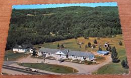 Continental Motel Curlew Ski Club Huntsville ON Canada Aerial BEV Postcard - Huntsville