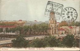 Baccarat  -      ( Montargis )      Le  Grand Pont  Et  L ' Eglise         ( DAGUIN  De  1994   Coté  12 Euros - Montargis
