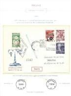 "1959. FREE  BALLOON "" DISTANCE "" RACE  AT INTERNATIONAL  POZNAN  FAIR - Poste Aérienne"