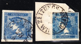 Österreich - 1851 Mi.# 6 Gestempelt  (x2) - Gebraucht
