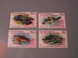 == Nicaragua 1980 Olympic ** MNH   Turtels - Nicaragua