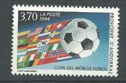"""Andorre YT 446 """" Coupe Monde Football USA """" 1994 Neuf** - Andorre Français"""