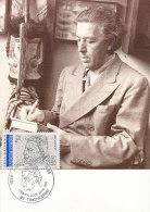 D17337 CARTE MAXIMUM CARD 1991 FRANCE - POET BRETON CP ORIGINAL - Escritores
