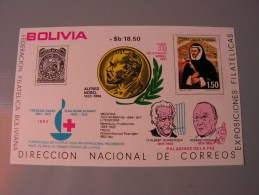 == Bolivia 1978  Bl. 71 ** MNH   Alfred Nobel Red Cross Olympia  Mi. 50,00 - Bolivien