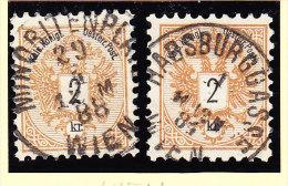 Österreich - 1883 Mi.#44  Vollstempel Wien - Gebraucht