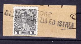 "Österreich - Schiffstempel ""VAPORE DALLA DALMAZIA ED ISTRIA"" Auf Mi.#139 U. Briefstück - 1850-1918 Imperium"