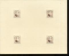 Essais  LEOPOLD I   Rare En Feuillet De 4  Gravure Intermédiaire Sur Papier Vergé - Proofs & Reprints
