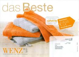 BRD Pforzheim Infopost 2011 Wenz Versandhaus Handtücher - Textil